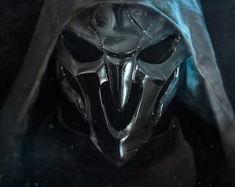 overwatch Reaper Mask Wight Skin Chrome mirror Replica