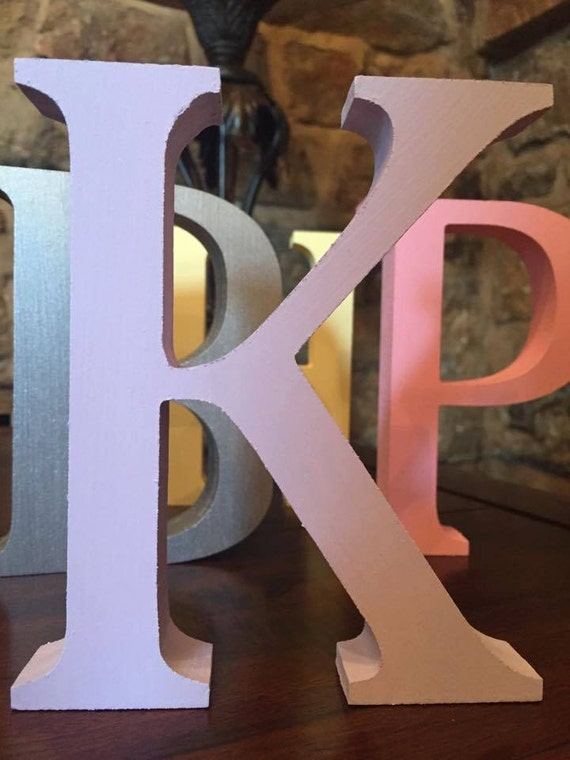 Lilac wooden letters and numbers free standing painted for Standing wood letters to paint