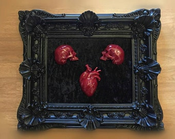 Big Frame Skulls and Heart