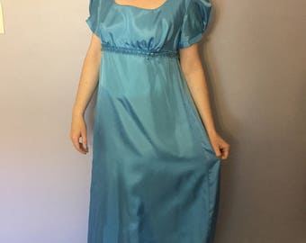 Blue Regency Ballgown