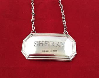 Sherry decanter label 1973