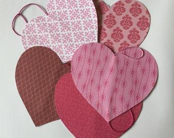 Heart decoration, heart bunting, Valentine's Day, wedding decor, anniversary present, vertical garland