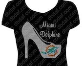 Custom Miami Rhinestone Heel