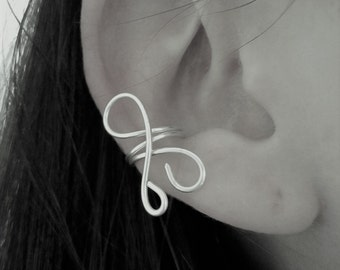 Ear cuff in sterling silver 950 - minimalist / design