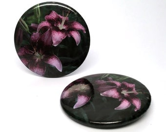 "Beautiful Flower (#5) 2.25"" Button"