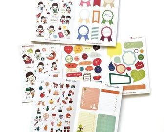 Korean girl Babosarang sticker (24 different sheets)