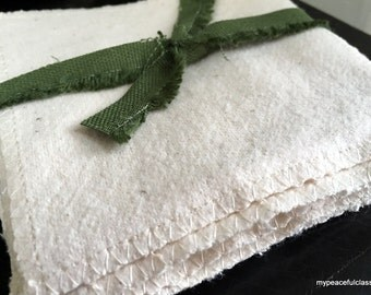 12 Organic Flannel Polishing Cloths for the Child's Practical Life Work