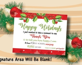 Rodan and Fields Christmas Thank You Card / Postcard / Rodan + Fields / Holiday Card / INSTANT DOWNLOAD / Happy Holidays