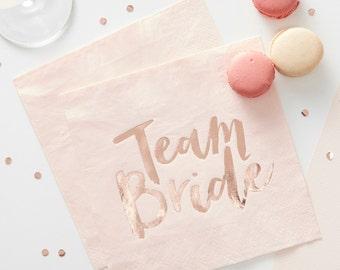 Hen Party Napkins | Bridal Shower | Bachelorette | Bride Tribe | Hen Do | Bridal Shower Tableware | Napkins | Team Bride | Bridal Party