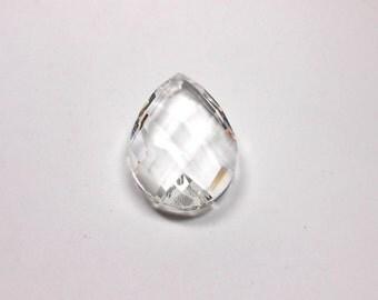 1 Diamond Swiss Cut Crystal Teardrop Pendant, 50mm, Crystal, Teardrop, Pendant, Bead Supply, Jewelry Making, Supplies, Craft Supply, Beads