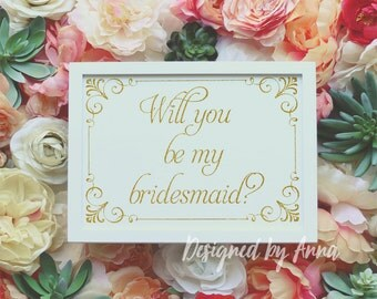 Printable will you be my bridesmaid card, gold glitter will you be mybridesmaid template instant download, elegant bridesmaid card design