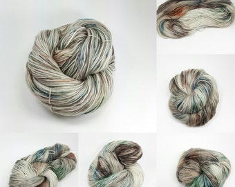 Superwash Sock Merino and Nylon Comfort Sock Base - Tea Stained Leaves colorway