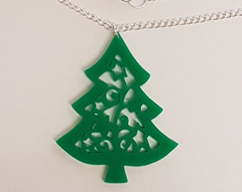 Christmas Tree Necklace - Acrylic