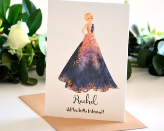 Will You Be My Bridesmaid Card, Be My Maid of Honour, Ask Matron of Honor, Ask to Be Bridesmaid, Bridesmaid Proposal, Bridesmaid Invitation