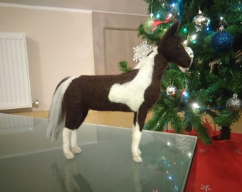 Needle Felted Horse Custom Portrait Horse sculpture Special Order Personalized