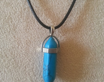 Chakra necklace, Deep Turquoise & Black