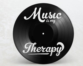 Records vinyl 33 T frame / / Music is my therapy