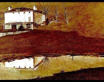 "Andrew Wyeth, Andrew Wyeth Print, American Art, American Artist, Americana, Wyeth Print, Wyeth Art, Pennsylvania Artist,""Brown Swiss-Detail"""