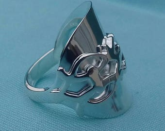 Antique Sterling Silver 1908 Edwardian spoon ring size W.