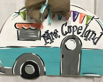 Camper Wooden Door Hanger