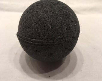 Black Bath Bomb with Activated Charcoal, Detoxify your skin, Black water, No stains on skin or tub, abyss bath bomb, dark water, moisturing
