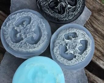 Organic Peppermint Charcoal Loofah FOOT soap
