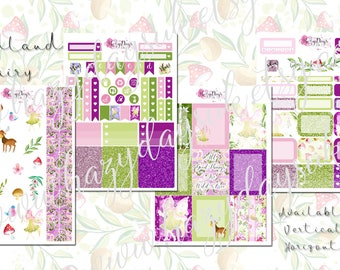 Woodland Fairy - 4 pages of Fairy Themed Planner Stickers, for Personal, Pocket, ECLP, Kikki.K Filofax, Happy Planner