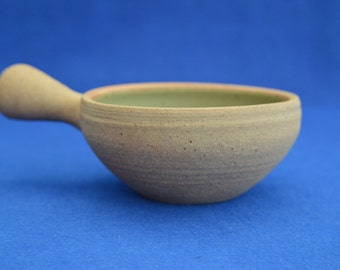 Vintage Lowerdown Pottery Handled Bowl -  David Leach Studio Pottery - Art Pottery - British Ceramics - Vintage - Devon - Celadon
