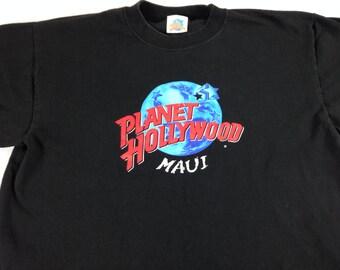 Maui t shirt etsy for Planet hollywood t shirt