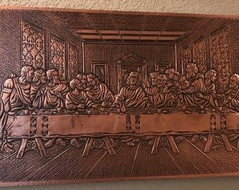 Wall Art - The Last Supper Copper