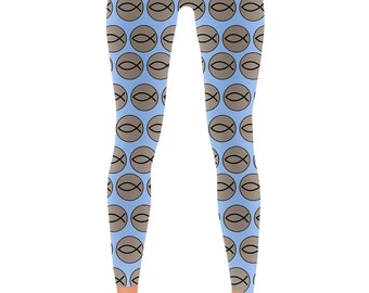 Followers of the Way - Jesus Fish Christian Leggings