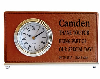 Custom Wedding Favors to the Best man,Groomsmen,Maid of Honor and All your Wedding entourage,Parents,In laws,Personalized Desk Clocks,LCG005