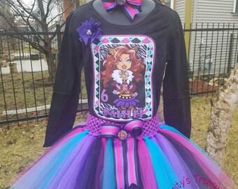 Shopkins Birthday Tutu, Monster High Birthday Outfit, Monster High Party, Monster High Shirt, Birthday Vest, Shopkins Party