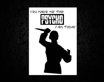 Psycho- Bates - Printed Mothers Day Card