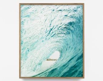 wave print, wave art, beach print, beach decor, beach art, ocean art, coastal art, coastal print, printable, turquoise print, turquoise art