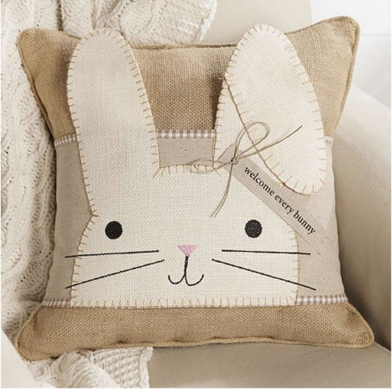 Easter Bunny Pillow Wrap Mud Pie Easter Easter Pillow