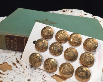 Brass Military Band buttons