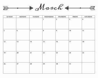 March 2017 Printable Calendar