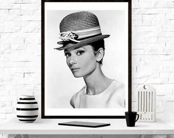 Audrey Hepburn, Print, Audrey Hepburn Gift for Her, Audrey Hepburn Poster,