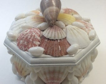 Octagonal Seashell Box