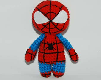 Spider Man toy for boy Marvel comics Crochet Spider-Man Doll Stuffed spiderman Amigurumi doll Baby spiderman