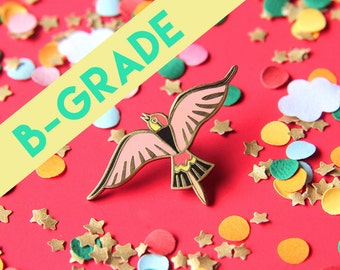 B-GRADE Pin bird - coral- hard enamel - lapel pin - pin badge