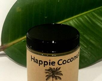 Happie Coconut Comfrey Salve 4 oz glass jar Organic, All-natural with Calendula