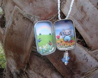 Altoids tin, Pocket Locket Mouse, locket for little girls
