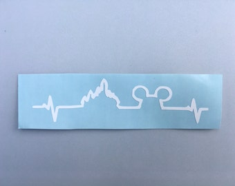 Disney fanatic heartbeat vinyl decal