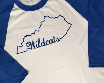 Kentucky Wildcats Baseball Tee-Raglan