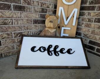 Coffee sign, shiplap coffee sign, coffee decor, coffee bar