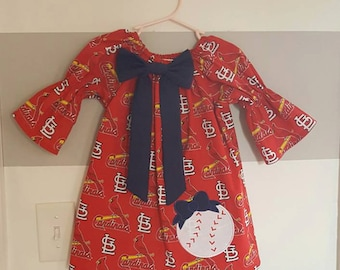 St. Louis Cardinals Print Peasant Dress
