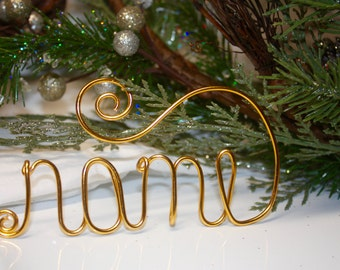 Personalized Wire Ornament