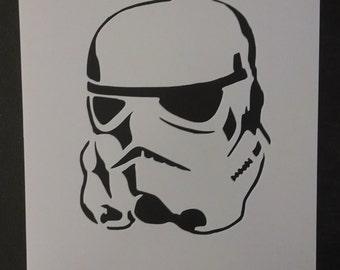 Star Wars Stormtrooper Storm Trooper Custom Stencil FAST FREE SHIPPING